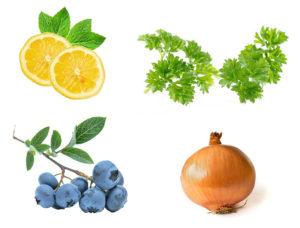 Flavonoider findes i mange af de frugter og grøntsager, vi spiser til dagligt