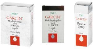 Garcin er en serie af hvidløgsprodukter fra Anjo A/S
