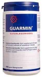 Guarmin Granulat er baseret på guarbønner og sænker kolesterolet og blodsukkeret