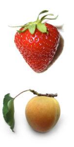 Appelsinblomst går godt sammen med jordbær og abrikoser