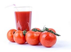 Tomatjuice er sundt og indeholder stoffet lycopen, der muligvis kan modvirke visse sygdomme